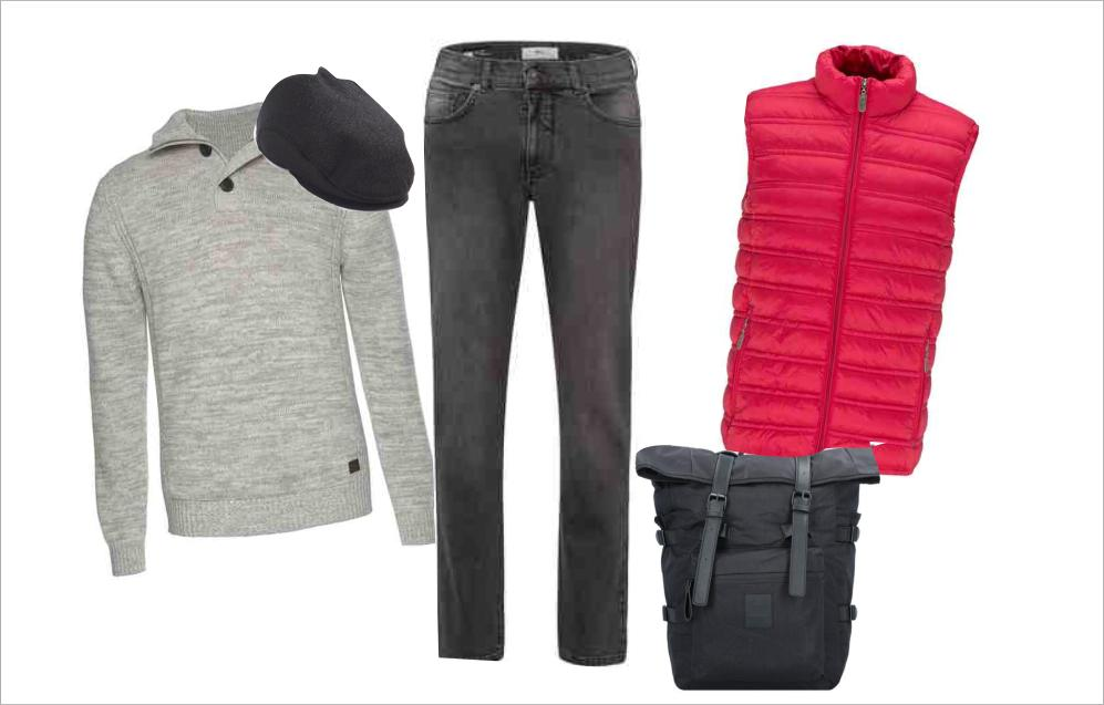 Herbst-Outfit mit Weste